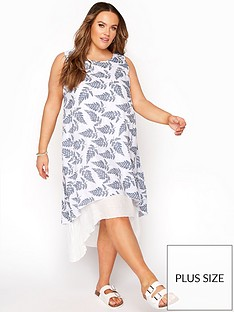 yours-yoursnbspdouble-layer-linen-look-dress-white