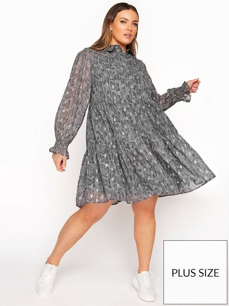 yours-yours-limited-tiered-dress-grey