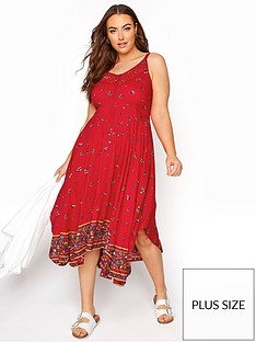 yours-yoursnbspborder-hanky-hem-sundress-red