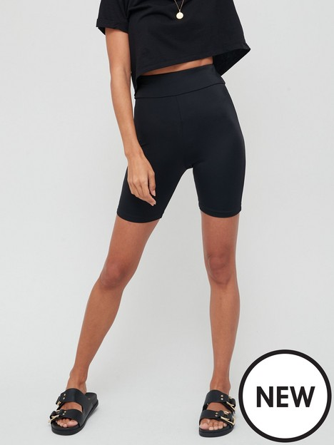 missguided-missguided-glossy-fibre-cycling-short-black