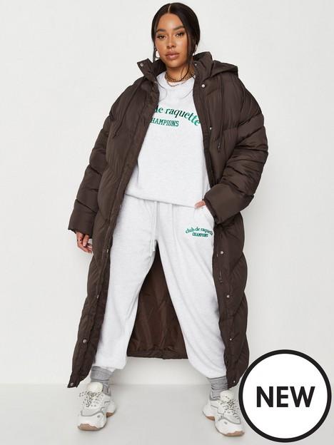 missguided-plus-missguided-plus-chevron-maxi-padded-coat