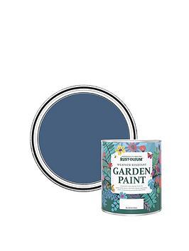 Product photograph showing Rust-oleum Garden Paint Ink Blue 750ml