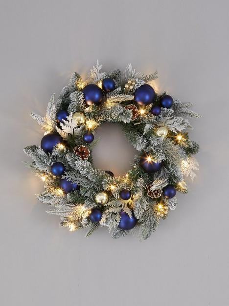 pre-lit-candlelight-christmas-wreath-ndash-60-cm-diameter