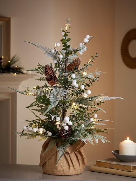 60-cmnbspmistletoe-and-fern-lit-tabletop-christmasnbsptree