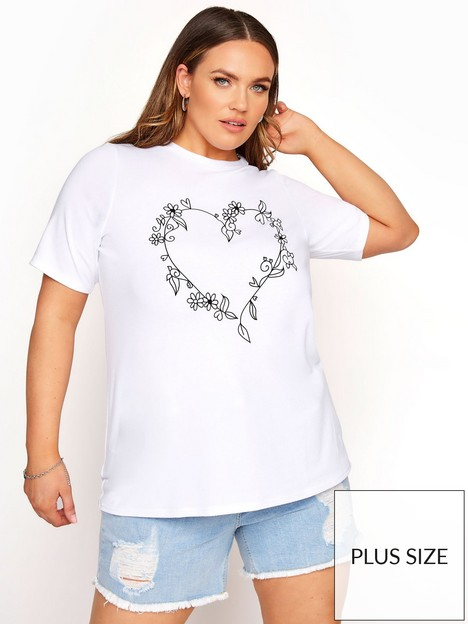 yours-limited-heart-print-tee