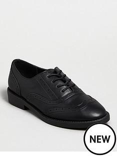 new-look-girlsnbsp915-m-keanu-punbspbrogue-lace-up-black