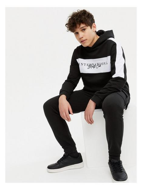new-look-boysnbspblocked-tracksuit-blacknbsp