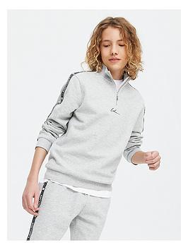 new-look-boysnbspfunnel-neck-track-suit-grey-marl