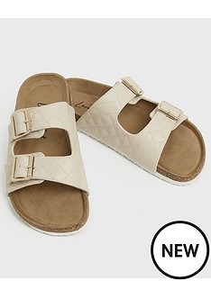 new-look-girlsnbsp915-m-flannel-pu-quilted-footbed-sandal-off-white