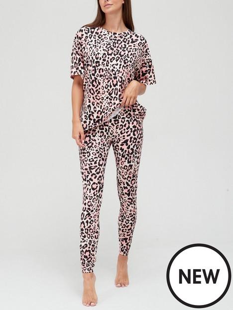 new-look-christine-animal-soft-touch-tee-legging-pj-set-pink-print