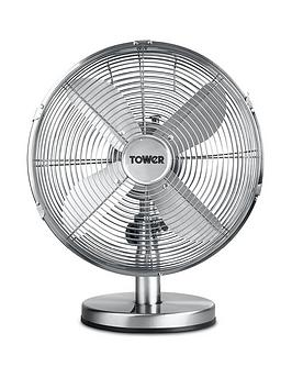 tower-t605000-metal-desk-fan-with-3-speeds-automatic-oscillation-long-life-motor-12-inch-35w-chrome