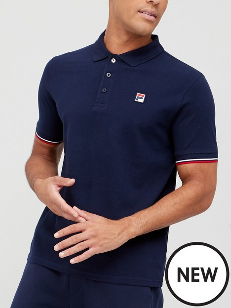 fila-wade-polo-with-tipping-navy