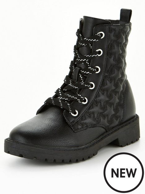 v-by-very-girls-star-detail-lace-up-ankle-boot-black