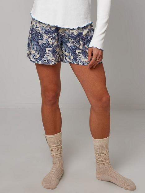 joe-browns-printed-shorts-cream