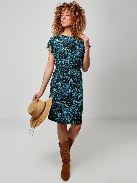 joe-browns-waterfall-sleeve-dress-blue