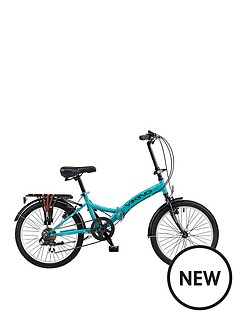 viking-viking-metropolis-20-inch-wheel-6-speed-folding-bike-aqua