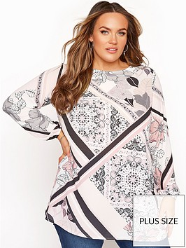 yours-yours-london-scarf-print-bellow-sleeve-blouse