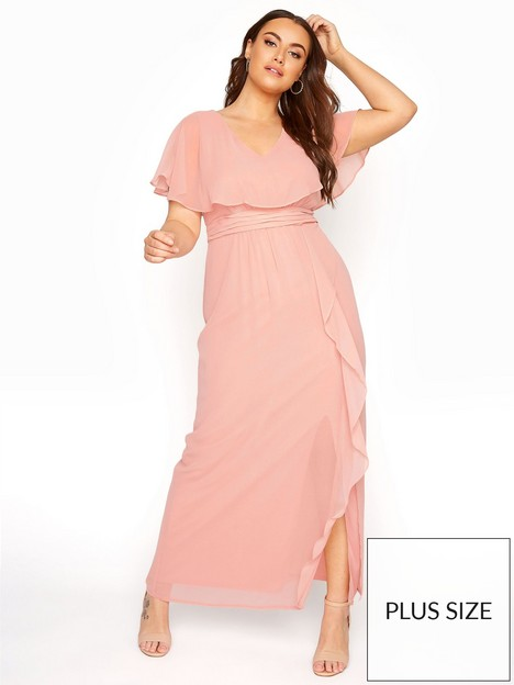 yours-yours-angel-sleeve-maxi-dress