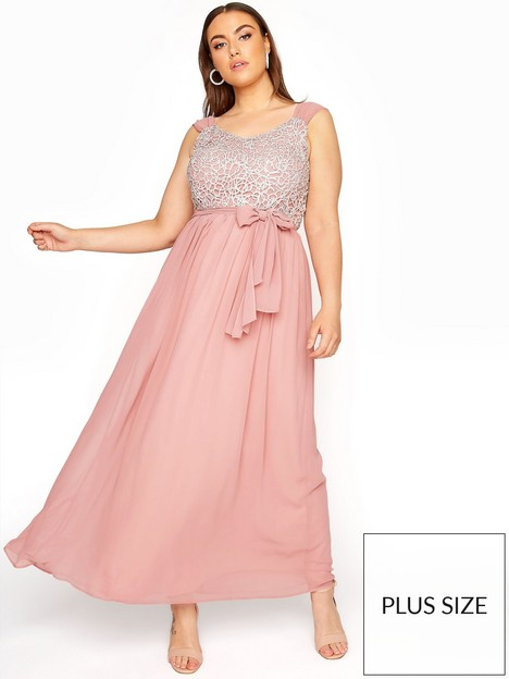 yours-yoursnbsppink-sleeveless-long-dress