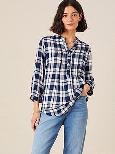 monsoon-navy-check-shirt