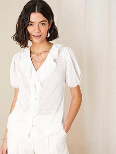 monsoon-monsoon-leandra-plain-ruffle-jersey-blouse