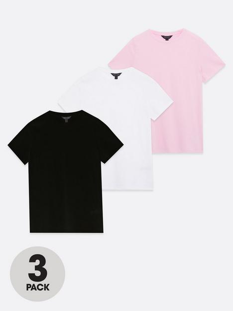 new-look-girlfriend-t-shirts-3-pack-pinkwhiteblacknbsp