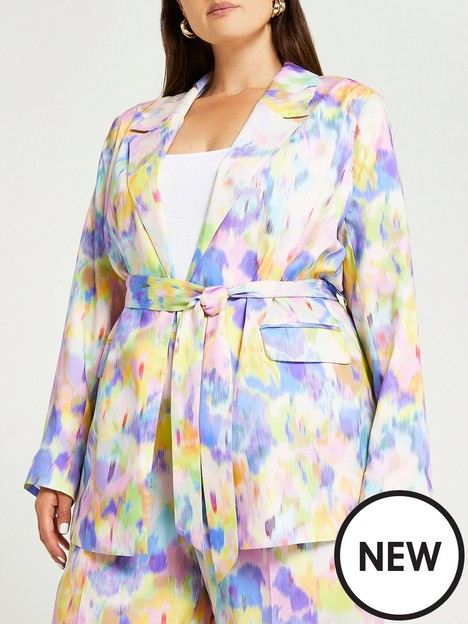 ri-plus-plus-blur-printed-blazer
