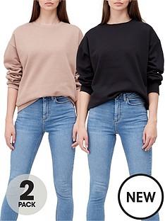 new-look-sweatshirts-2-pack-blackbeigenbsp