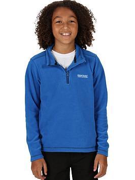 regatta-kids-hot-shot-ii-14-zip-fleece-blue