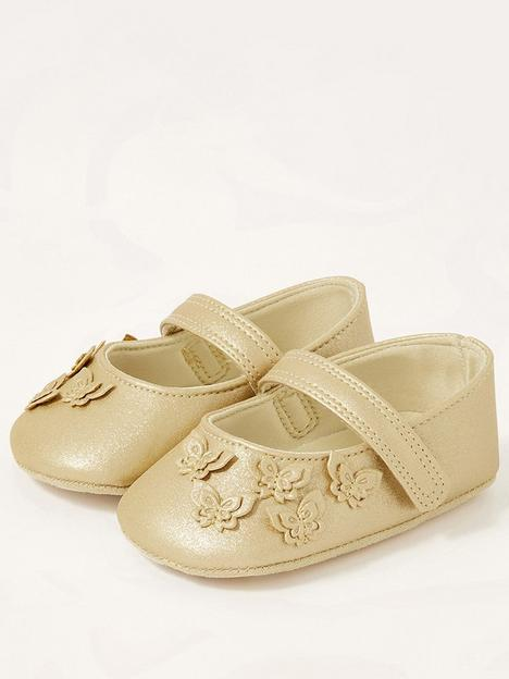 monsoon-baby-girls-butterfly-bootie-gold