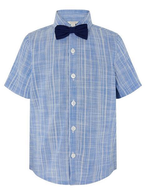 monsoon-boys-slub-stripe-shirt-with-bow-tie-blue