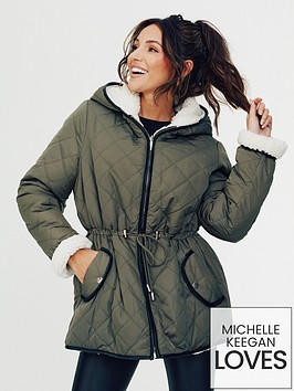 michelle-keegan-reversible-quilted-teddy-coat-olive