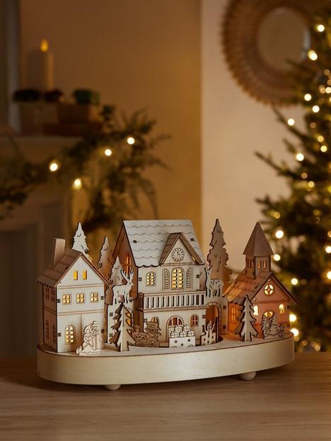 heaven-sends-wooden-light-up-village-with-movingnbsptrain-christmas-decoration