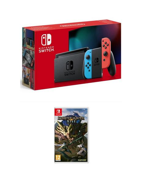 nintendo-switch-console-with-monster-hunter-rise
