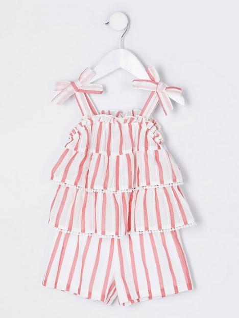 river-island-mini-mini-girls-stripe-playsuit-cream