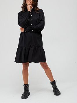 v-by-very-tencel-shirt-tiered-shift-dress-black