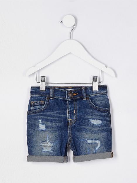 river-island-mini-mini-boys-dylan-denim-shorts-blue