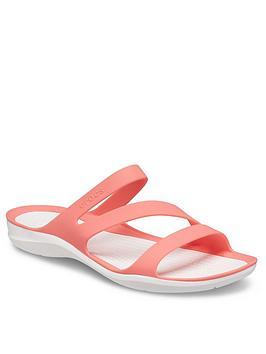 crocs-swiftwater-flat-sandals-orange
