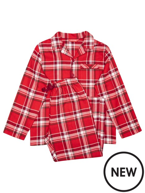 minijammies-unisex-mini-me-frankie-check-long-sleeve-woven-pyjamas-red