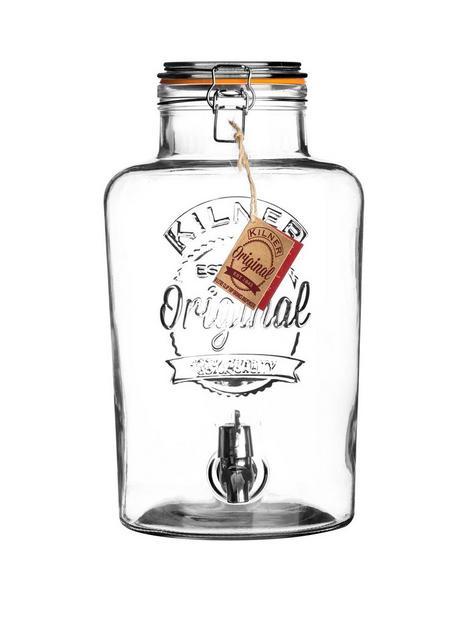 kilner-clip-top-round-drinks-dispenser-8-litre