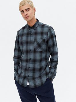 new-look-mens-long-sleevenbspcheck-shirt-bluenbsp