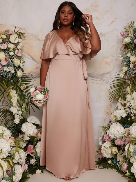 chi-chi-london-curve-angel-sleeve-wrap-maxi-bridesmaid-dress--nbspchampagne