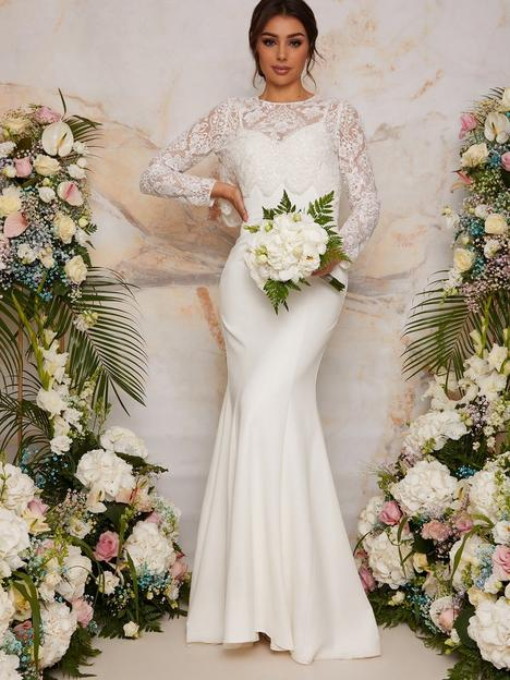 chi-chi-london-long-sleeve-lace-bodice-wedding-dress-white