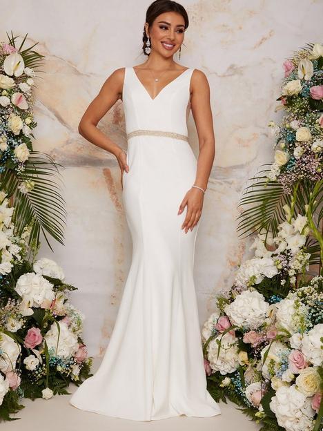 chi-chi-london-chi-chi-london-sleeveless-plunge-wedding-dress