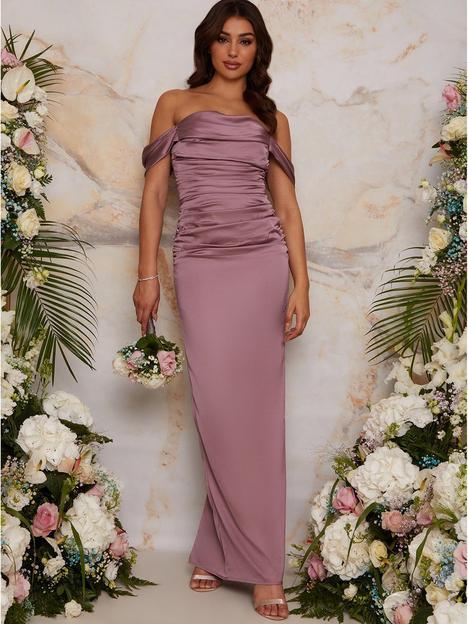chi-chi-london-bardot-ruched-satin-bridesmaid-maxi-dress-lilac