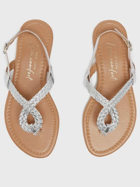 new-look-915-pu-plaited-sandals-silver