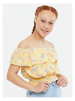 new-look-915-alyssa-frill-bardot-yellow