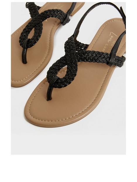 new-look-915-girlsnbsp915-pu-plaited-sandals-black