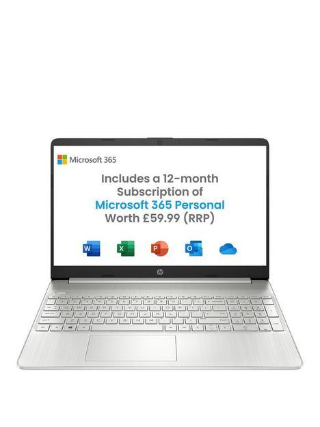 hp-15s-fq2024na-laptop-156in-fhdnbspintel-pentium-goldnbsp4gb-ramnbsp128gb-ssd-microsoft-365-personal-12-months-includednbspoptional-norton-360-silver