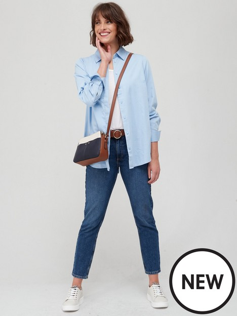 fig-basil-split-back-shirt-soft-blue